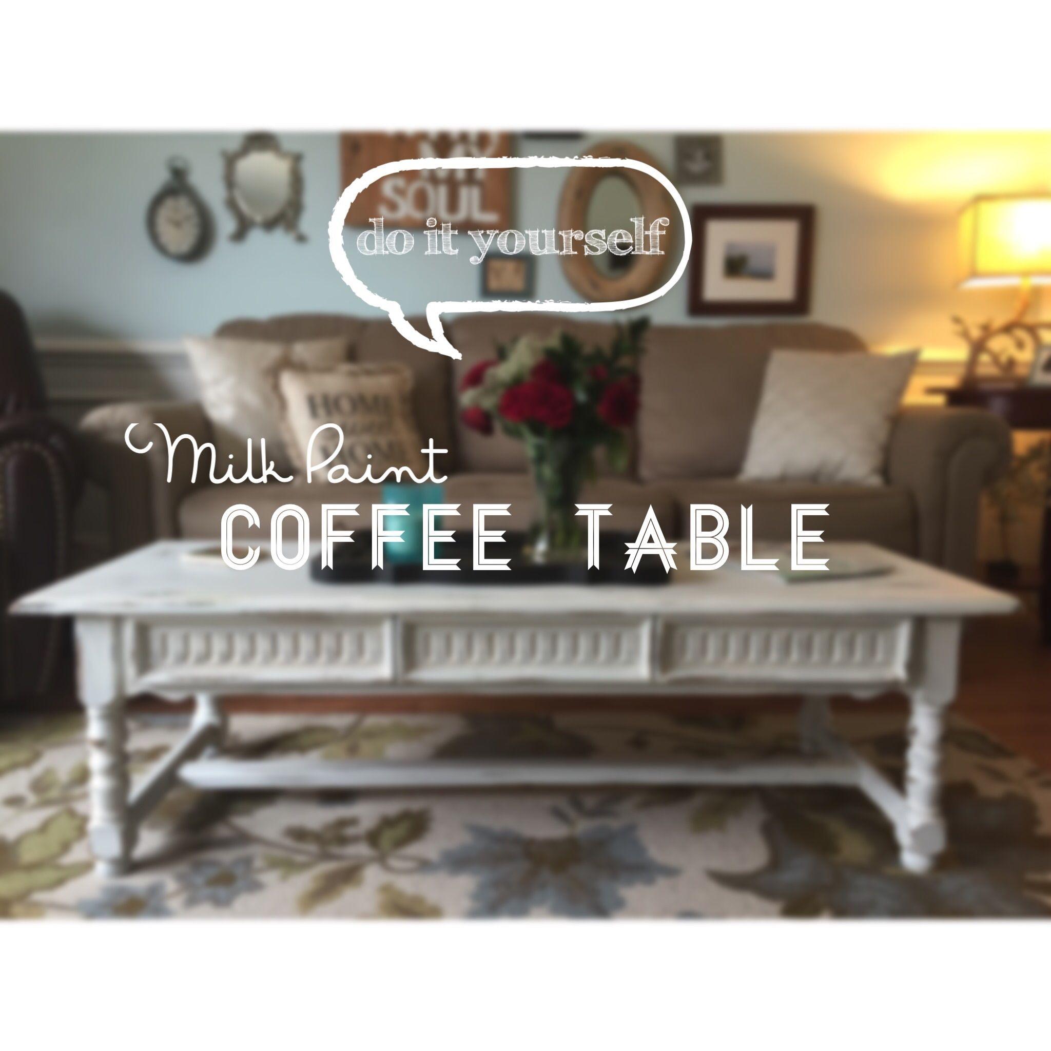 Miss Mustard Seed milk paint tutorial DIY an old coffee table
