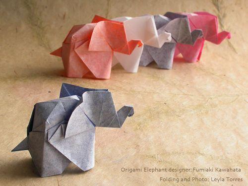 Kawahata Origami Elephant Origami Pinterest Origami Elephant