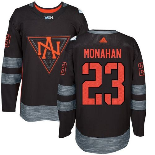 Men's Adidas Team North America #23 Sean Monahan Authentic Black Away 2016  World Cup of