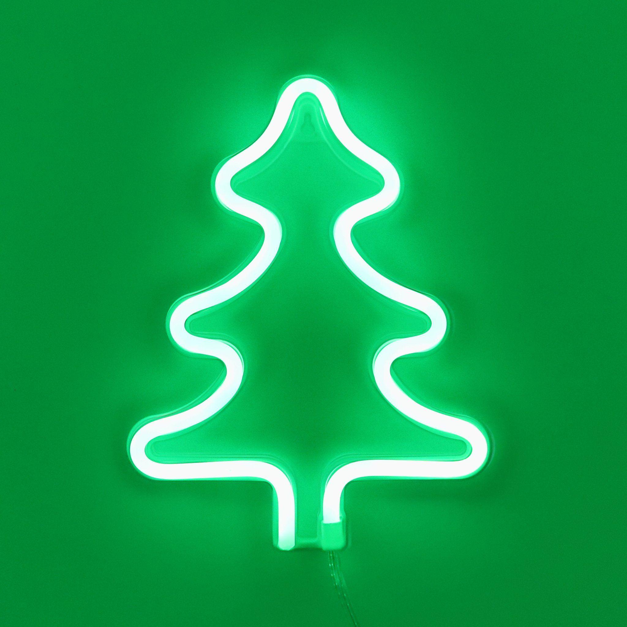 Tonger Green Christmas Tree Wall Led Neon Light Sign Green Christmas Tree Creative Christmas Trees Different Christmas Trees
