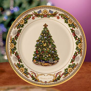 Lenox Christmas trees around the World This year the plate is