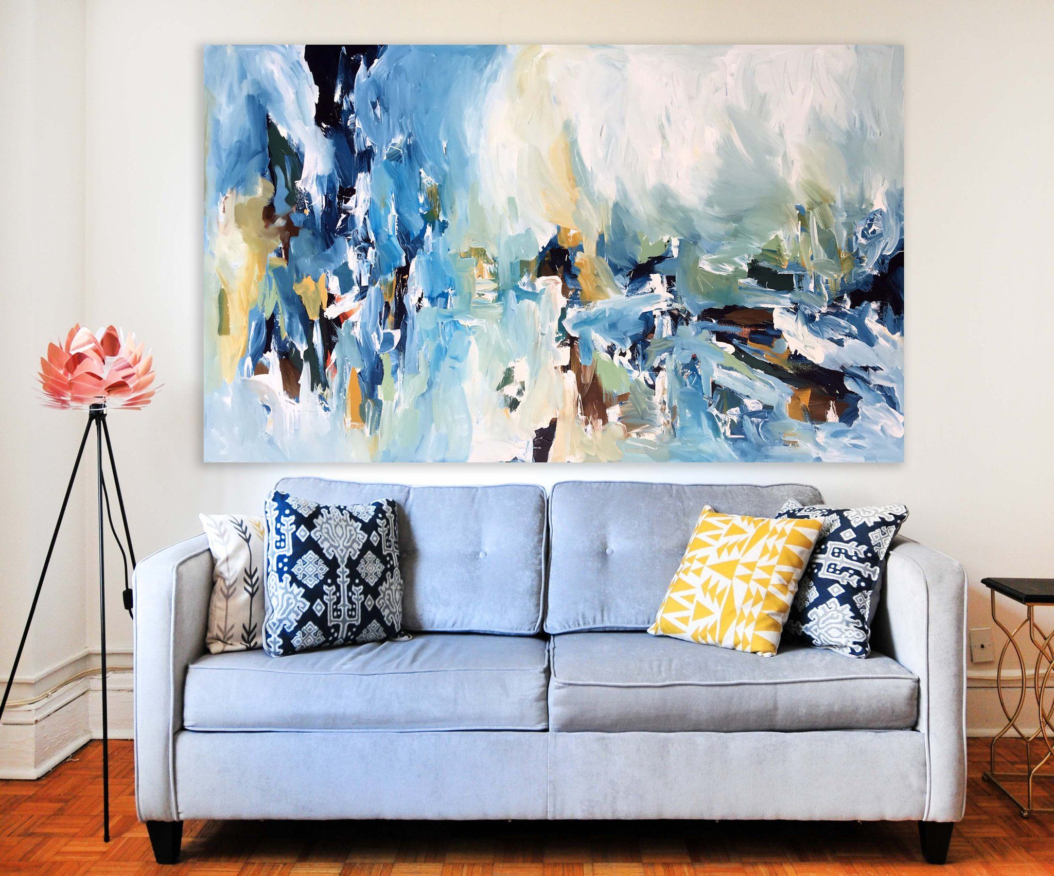 Distraction Custom Painting Large Abstract Wall Art