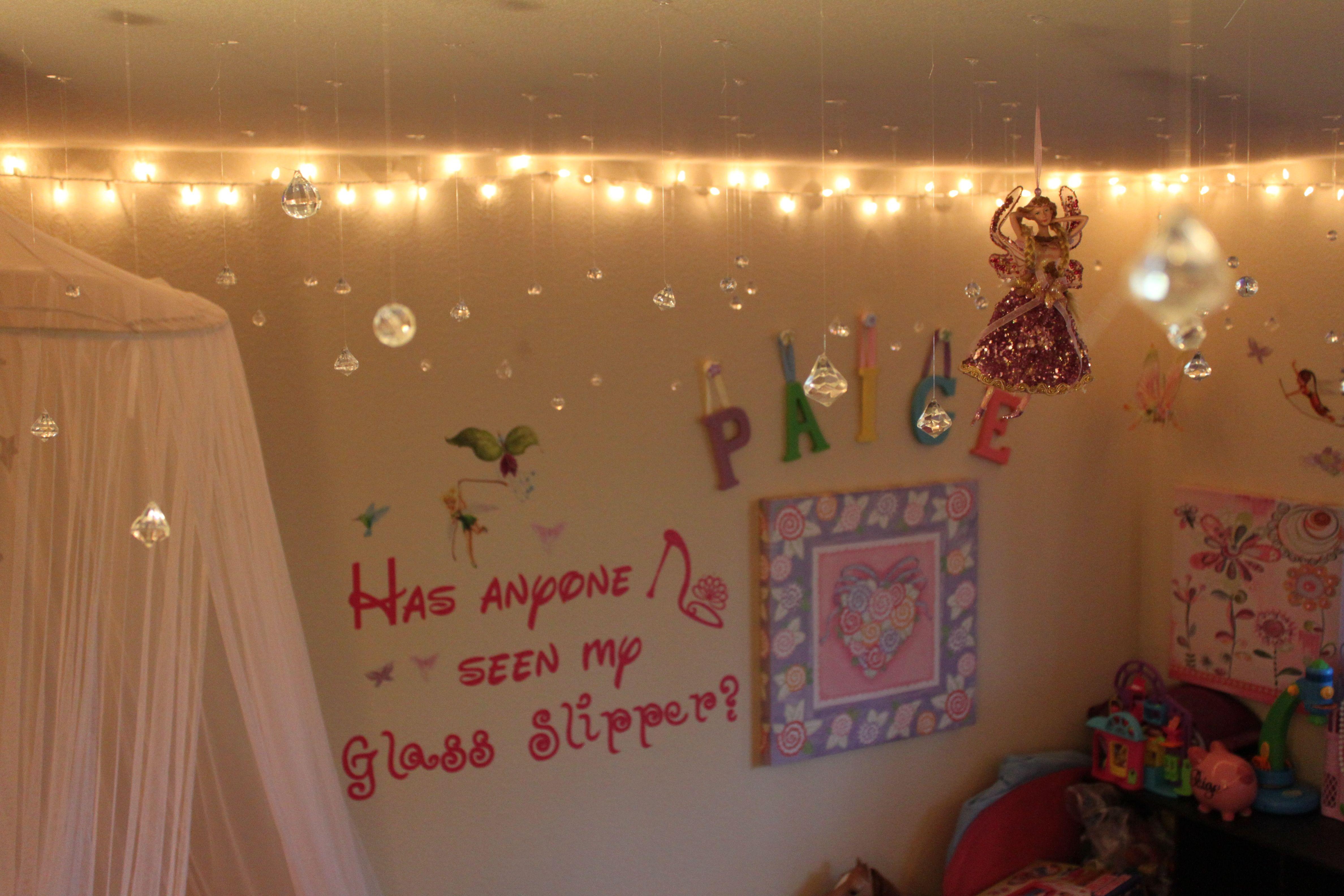hang christmas lights around bedroom