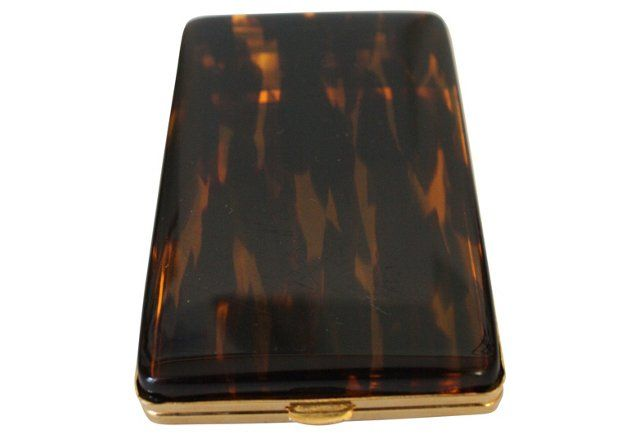 Faux-Tortoiseshell Cigarette Case