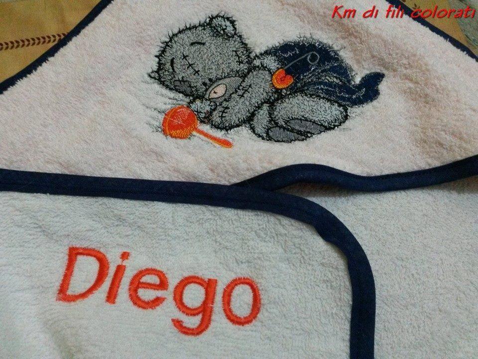 Teddy Bear with rattle machine embroidery design