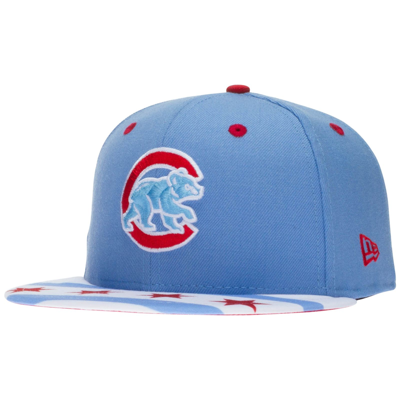03ae919e572 Chicago Cubs Light Blue Chicago Flag Bill Snapback Hat by New Era  Chicago   Cubs  ChicagoCubs
