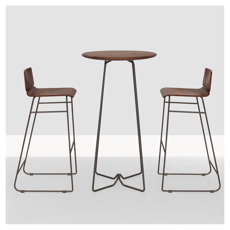 table haute ronde noyer am ricain soda high zeitraum mange debout pinterest sodas et tables. Black Bedroom Furniture Sets. Home Design Ideas