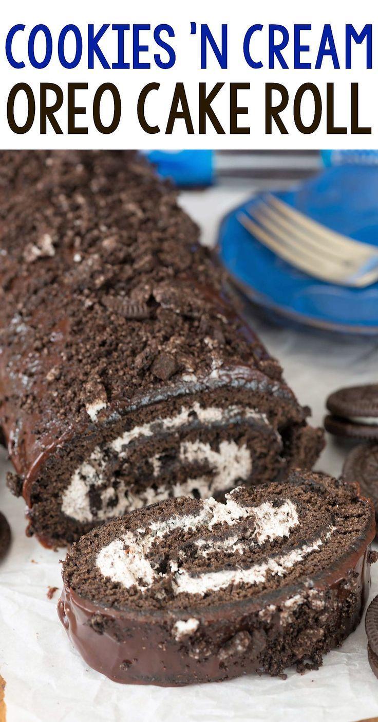 Kekse und Creme Oreo Cake Roll   - oreo Kuchen -