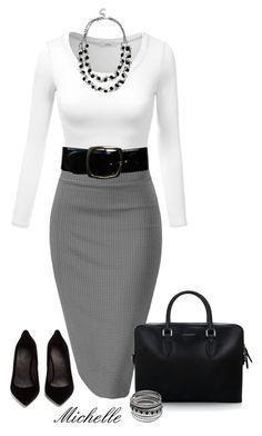 All Work & No Play von michellesherrill on Polyvore mit Maison Margiela, Bu … - Outfit.GQ #workclotheswomen
