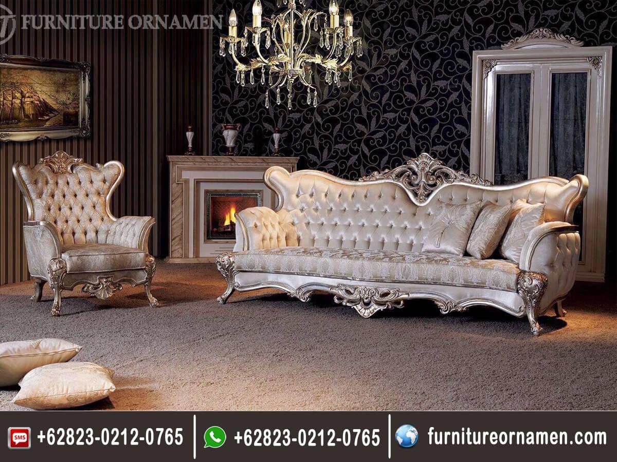 Sofa Tamu Ukiran Model Italian Fo 0118 Set Ruang Keluarga