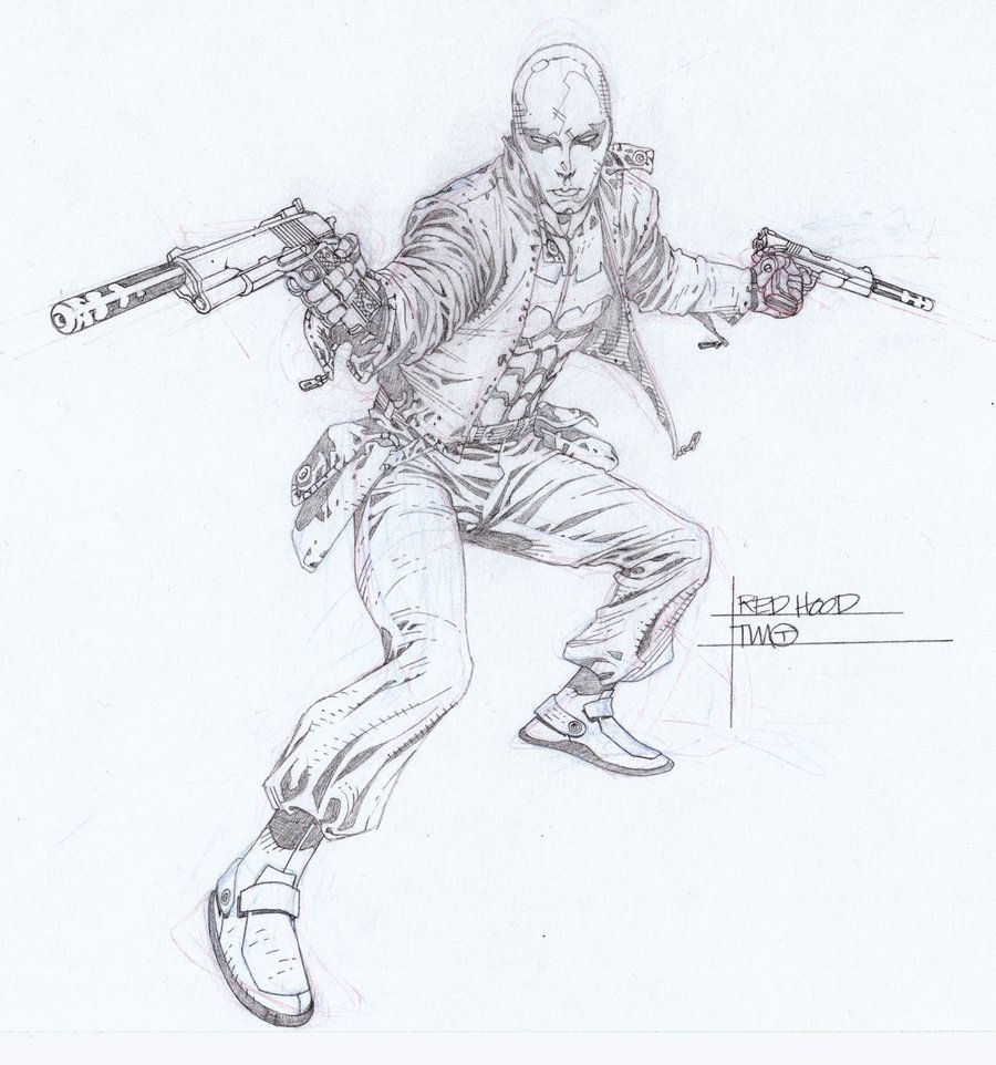 Red Hood Drawings in Pencil | batman coloring pages | Pinterest ...