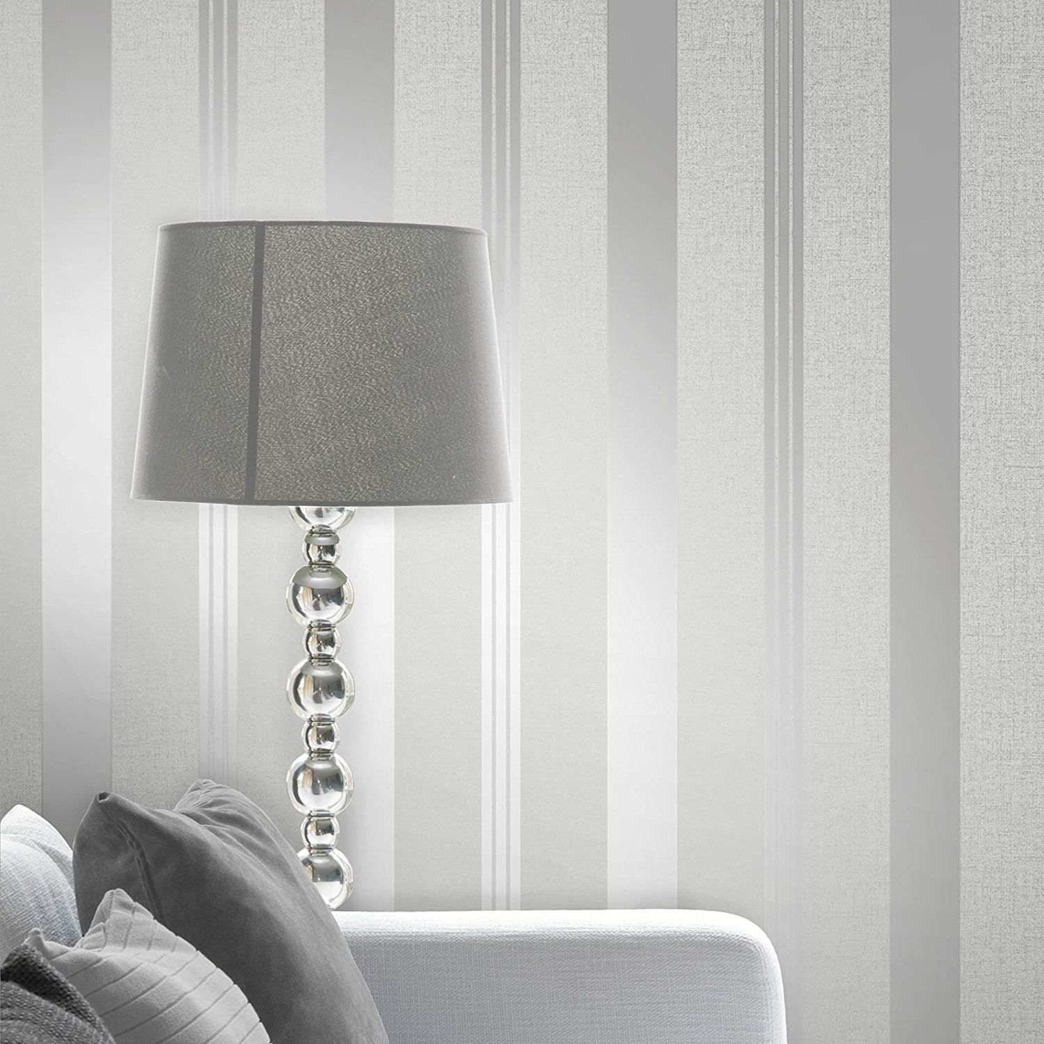 Silver Grey Wallpaper Various Designs Luxury Glitter Metallic Modern Shiny Ebay Striped Wallpaper Striped Wallpaper Living Room Silver Grey Wallpaper