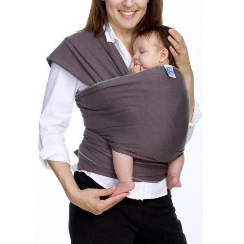 NEW Moby Cotton Baby Carrier Wrap Slate One size fits Most