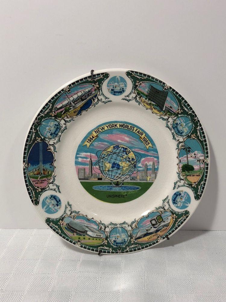 New York World\u0027s Fair 1964-1965 Souvenir Collector Plate Unisphere & New York World\u0027s Fair 1964-1965 Souvenir Collector Plate Unisphere ...