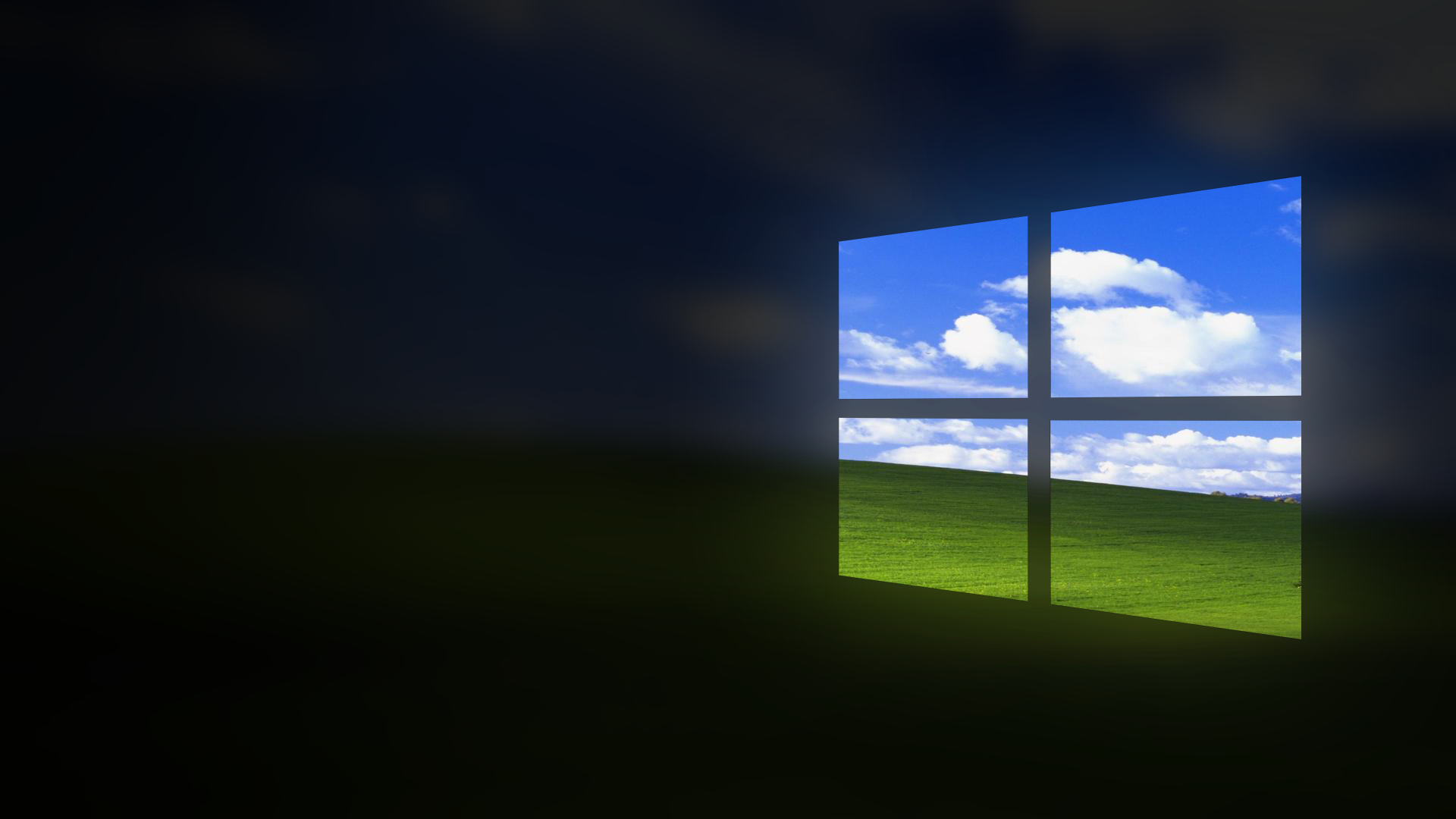 Windows 10 Wallpaper But Windows Xp Is In The Background