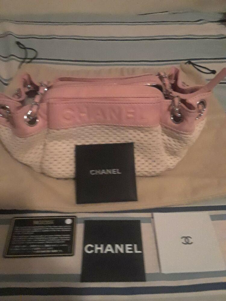 Chanel Pink Beige Handbag Authentic Fashion Clothing