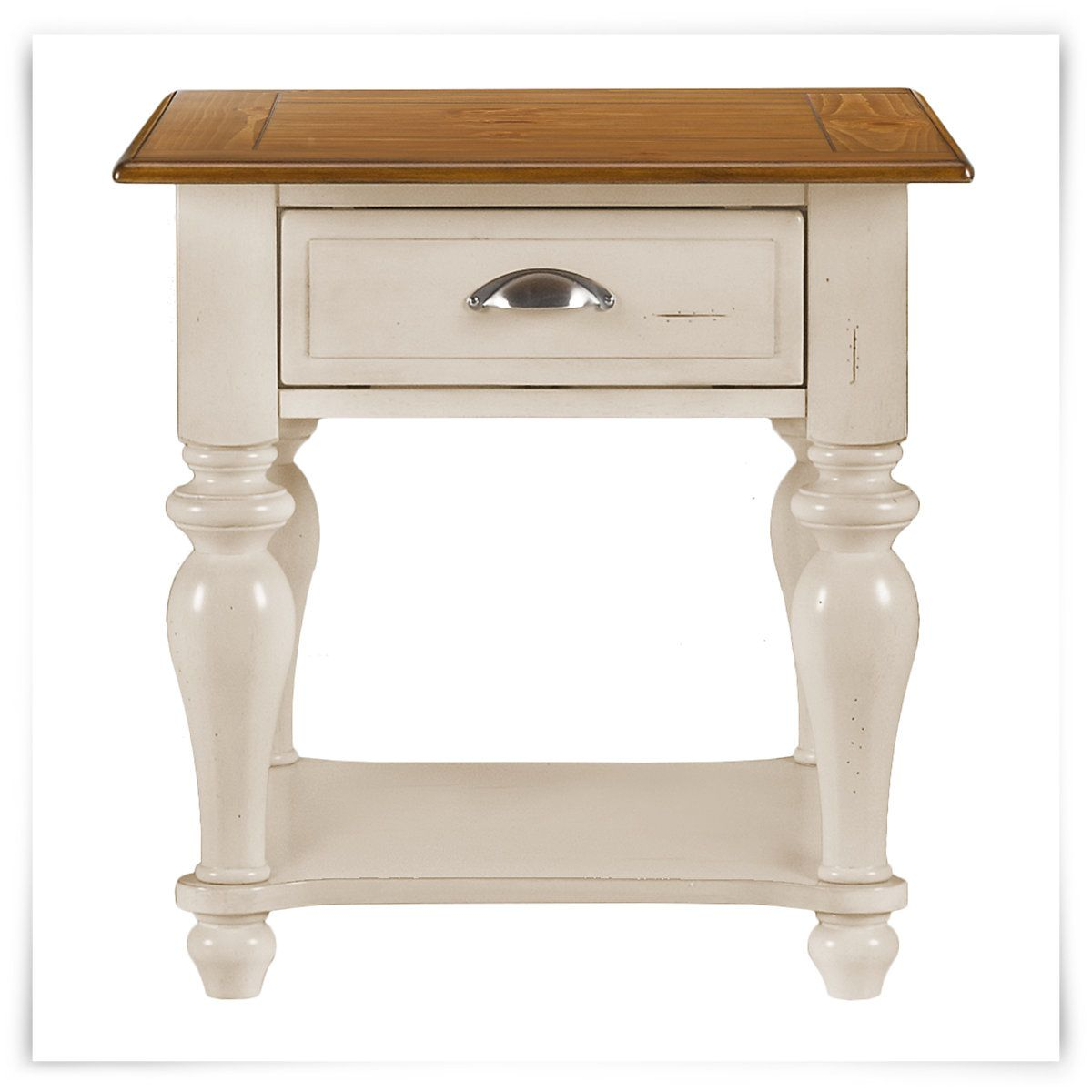 Great Ocean Isle Two Tone End Table