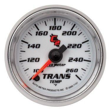 Auto meter c2 transmission temperature gauge, 100-260 f ... on