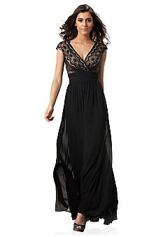 JS Collections Lace Surplice Gown - Belk.com | My Style ...