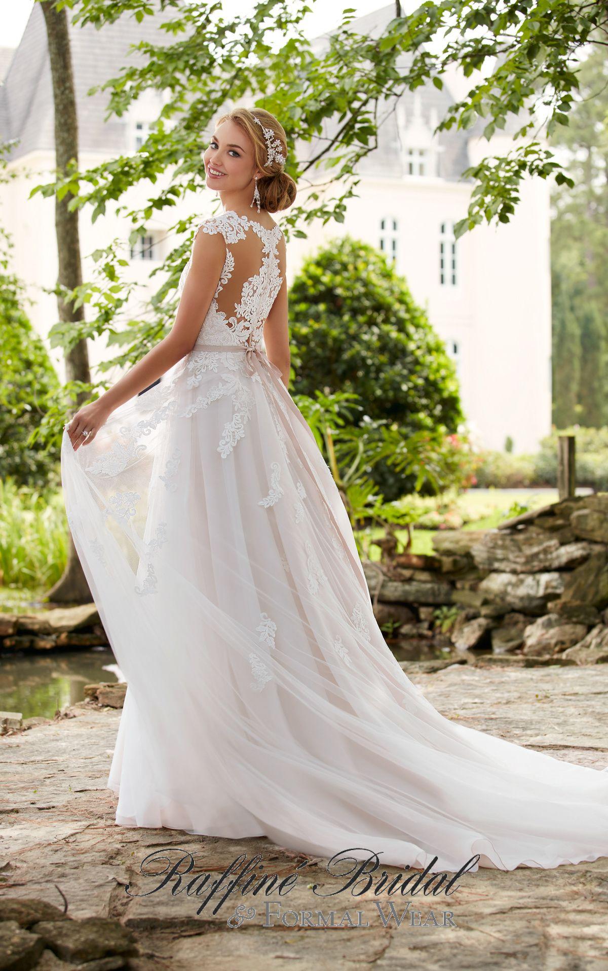Stella York #6391 - This romantic cap sleeve wedding dress with ...