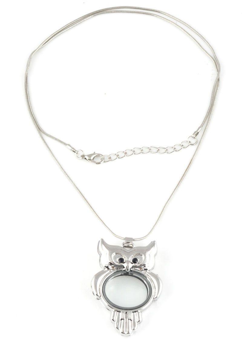 Floating charm locketu owl yilajewelrymetal