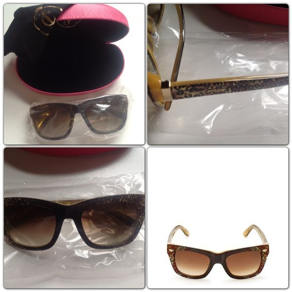 New in case Authentic Juicy Couture Ocelot Leopard Print Sunglasses $105.00