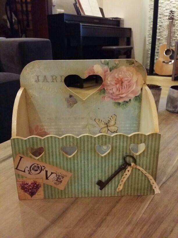 Woodhouse Decoupage Box Handmade Box Decoupage Vintage