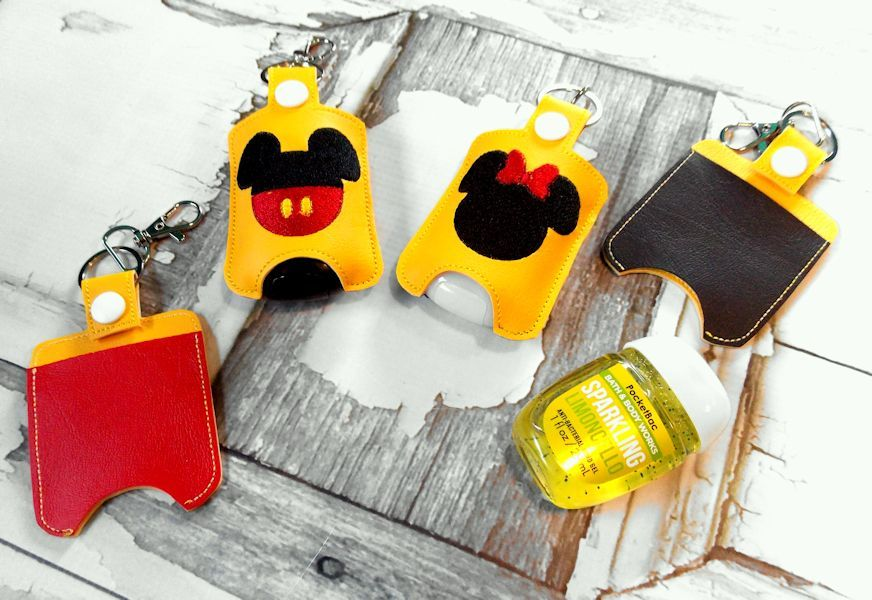 Mickey Mouse Hand Sanitizer Holder Key Fob By Wallowa Wonders Snap