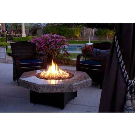 Oriflamme Gas Fire Pit Table Elegance Octagon Fire Pit Table