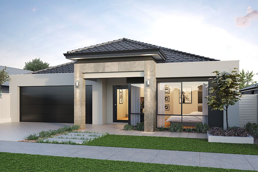Classic Single Storey Elevation By National Homes Modern House