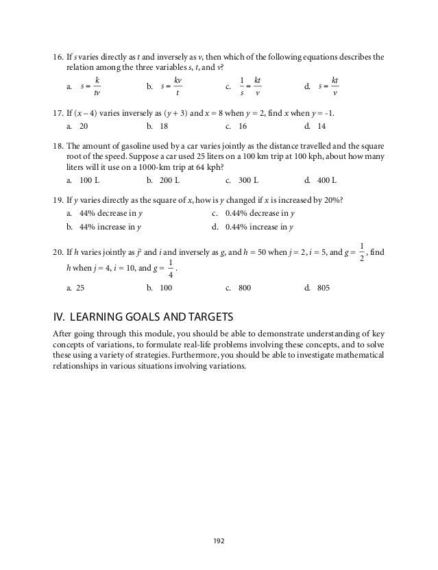 21 Direct And Inverse Proportion Worksheet With Answers With