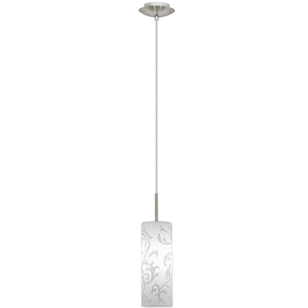 High Quality Eglo Amadora 1 Light Matte Nickel Hanging/Ceiling Pendant 20512A   The Home