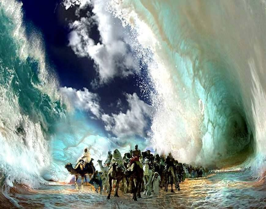 Image result for prophetic art parting of the sea