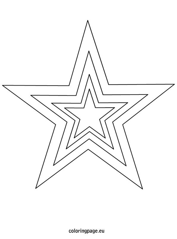 Star Template Printable Coloring Page Star Template Printable Star Template Star Coloring Pages