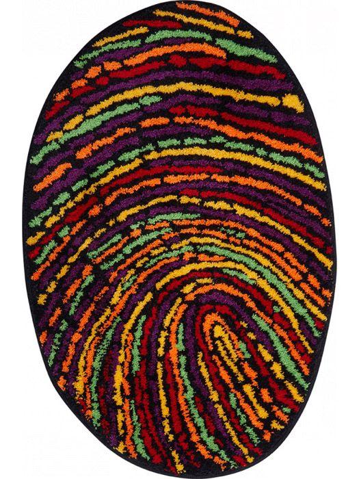 Der Witzige Badteppich Fingerprint In Frohlich Bunten Farben Sieht