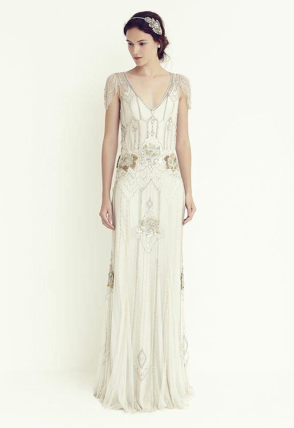 Jenny Packham Eden platinum wedding dress UK 8  226e6c0cf0c0