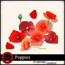 Poppies Elements cudigitals.com cu commercial scrap scrapbook digitalgraphics#digitalscrapbooking #photoshop #digiscrap #scrapbooking
