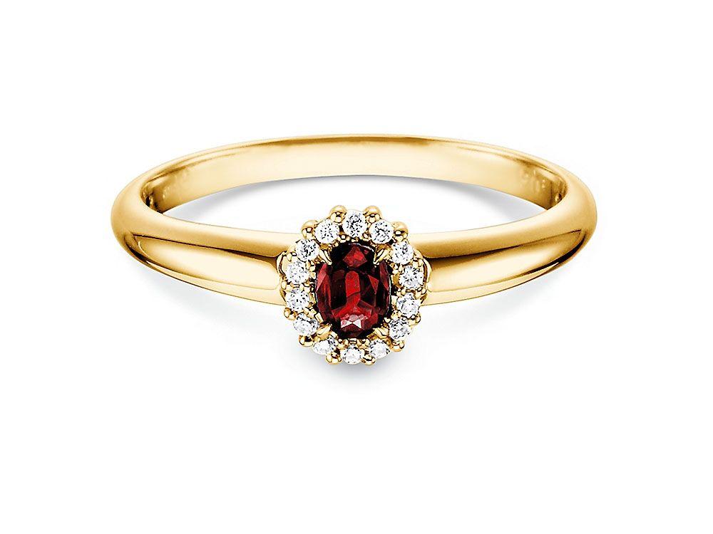 Verlobungsring 0 06 Ct 14k Gelbgold Verlobungsringe Online Shop