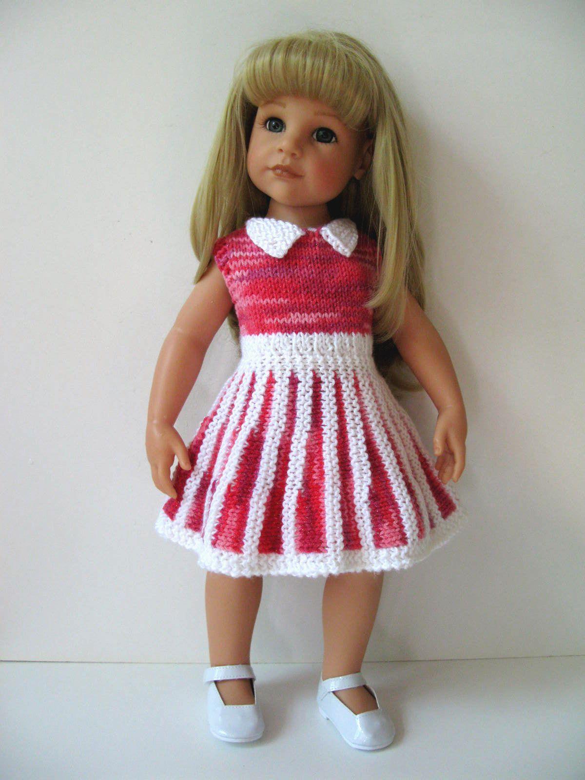 Sandy Dress Knitting Pattern (49) | Crochet doll clothes ...