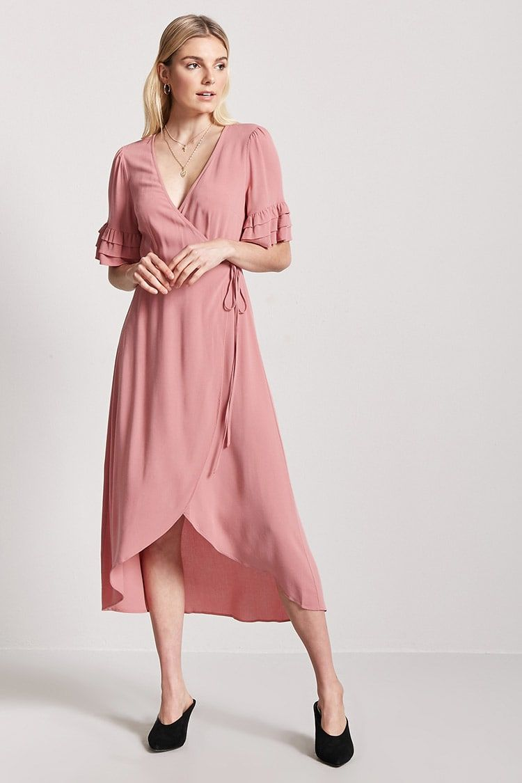 0500120886 Ruffle Wrap-Front Dress - Women - Dresses - 2000249164 - Forever 21 Canada  English
