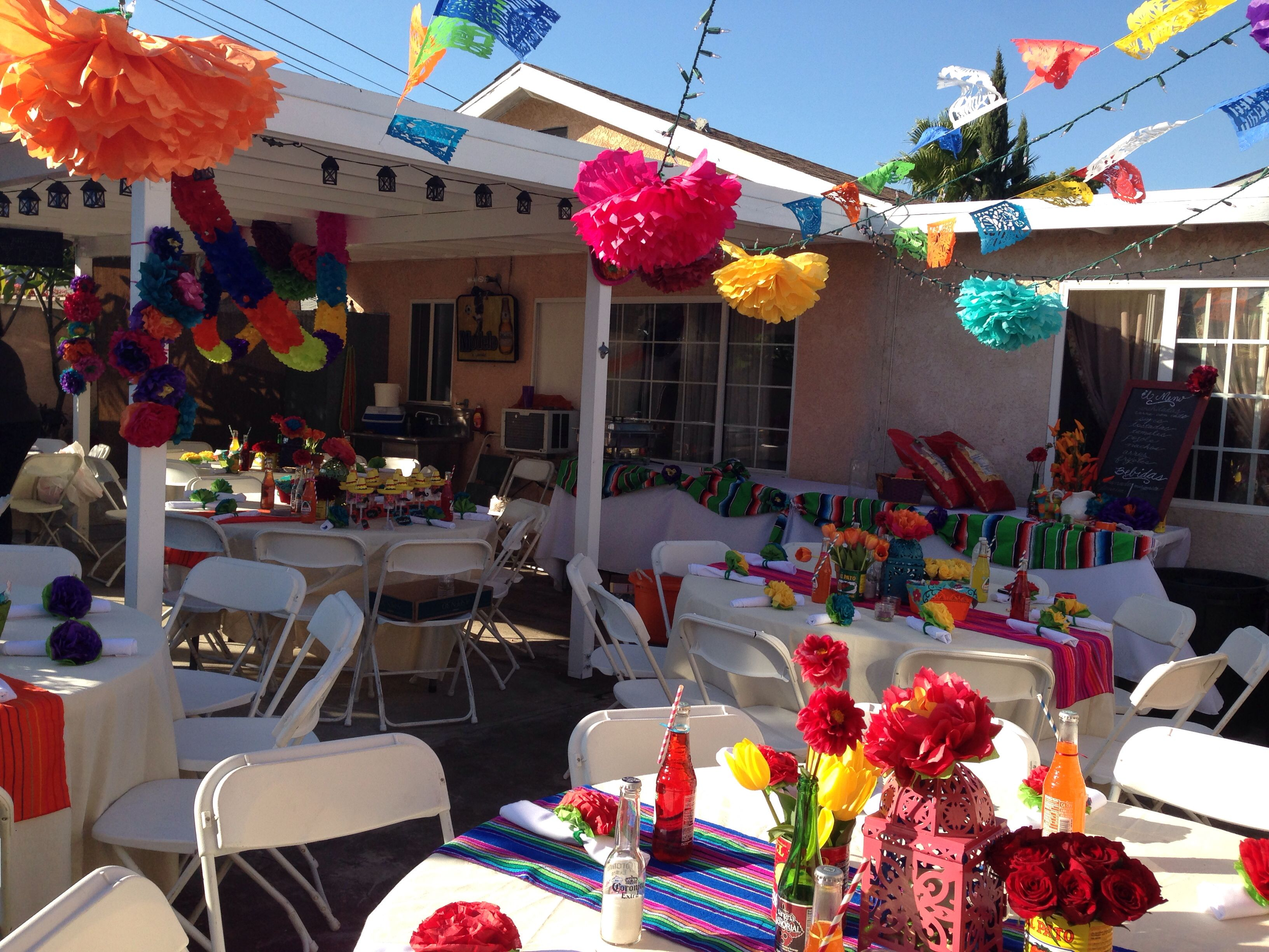 Mexican Themed Decoration Ideas Part - 17: 40th Birthday Mexican Fiesta Party