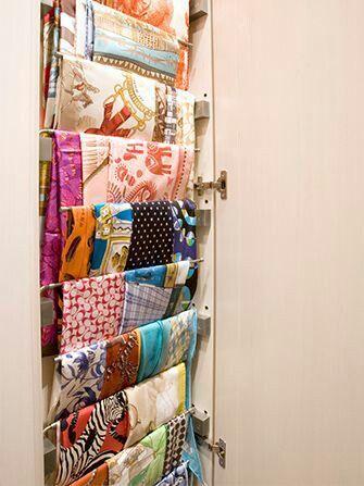 Great Idea For Scarves In My Wardrobe Design Dekorasi Rumah