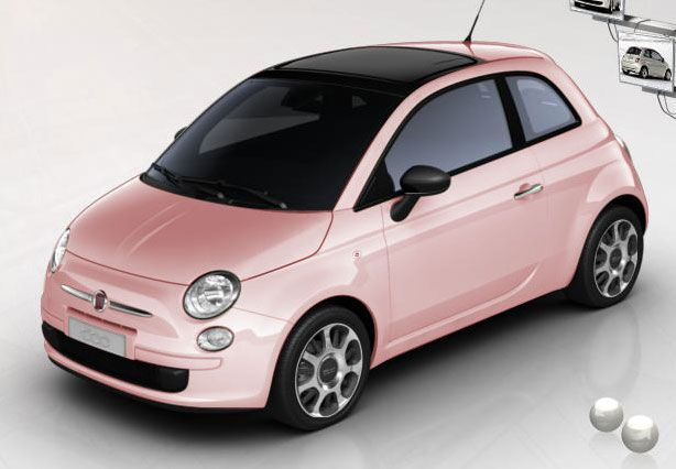 fiat 500 pink rose cute car fiat 500 pinterest. Black Bedroom Furniture Sets. Home Design Ideas