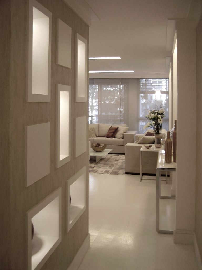 Hall de entrada HALL DE ENTRADA Apartamentos decorados, Decoraç u00e3o de casa e Ideias corredor -> Decoração Do Hall De Entrada Do Apartamento