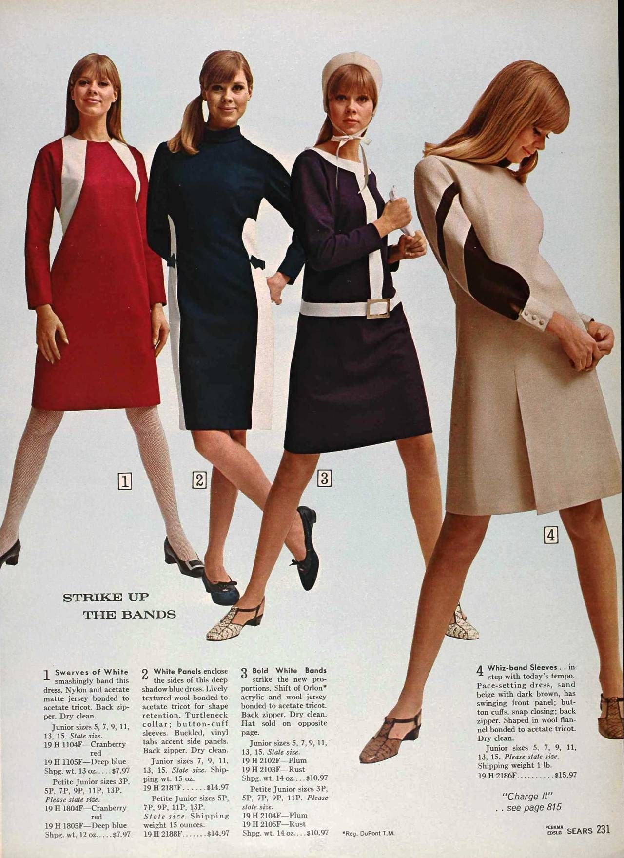 Terry Reno Modeling Inside Of Sears Catalog 1966 X