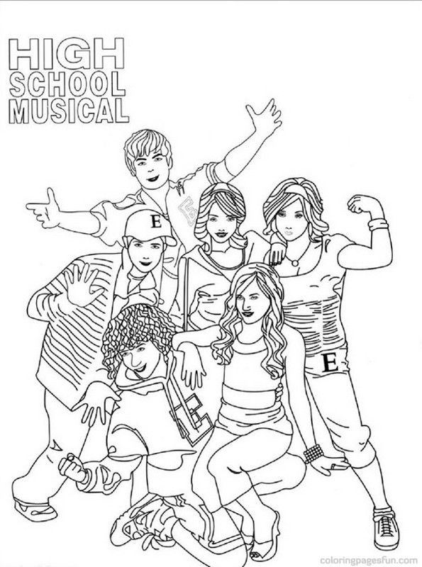 schools coloring pages High School Musical Coloring Pages 3   Free Printable Coloring  schools coloring pages