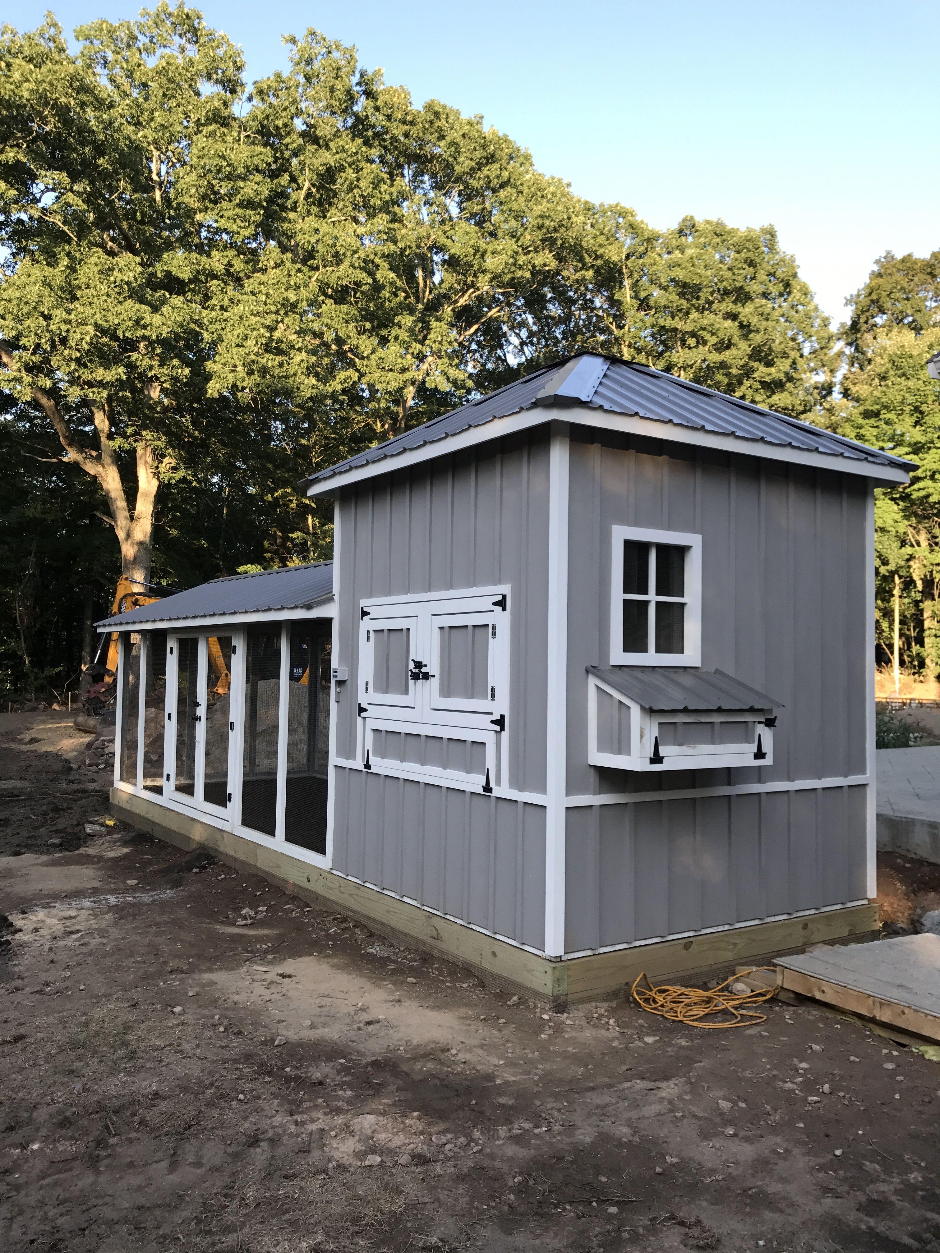 8x8 henhouse with 8x18 run chicken coop