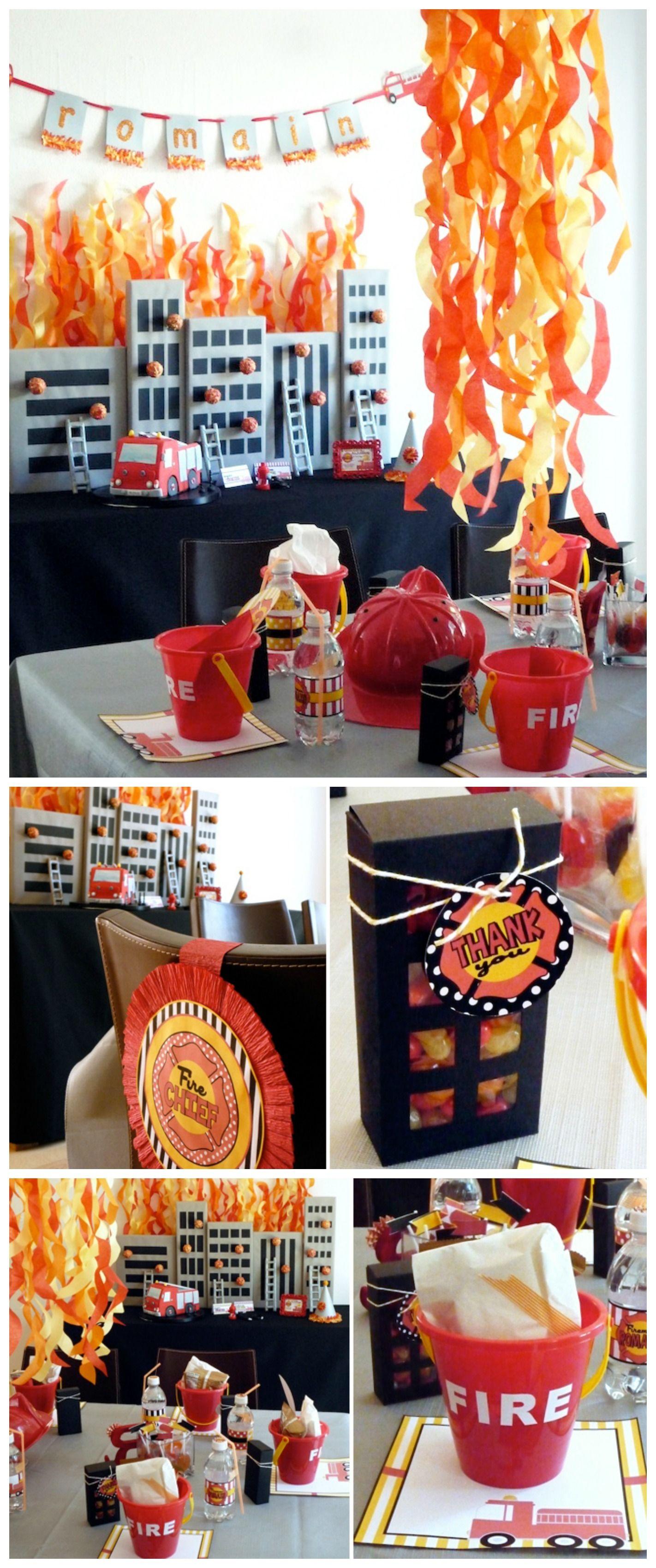 Anniversaire Enfant Theme Pompier Pompier Anniversaire Enfant Anniversaire Pompier