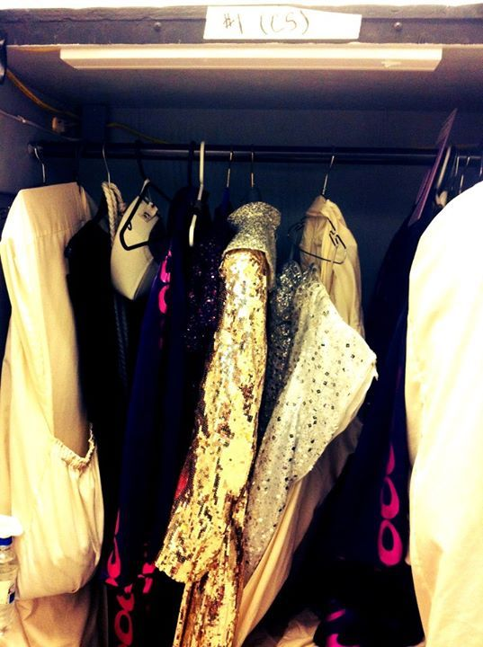 A backstage peek at the glittery nun costumes from Sister Act The Musical!