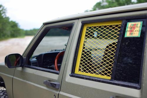 84 01 Cherokee Xj Trail Cage Window Guards Molle Racks Jeep Suv Jeep Cherokee Jeep Xj Mods